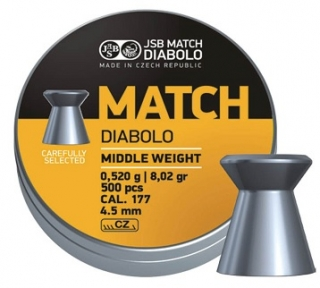 JSB Match Middle weight 4,49mm 500db