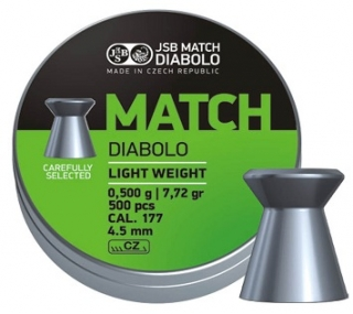 JSB Match Light weight 4,50mm 0,500g 500db