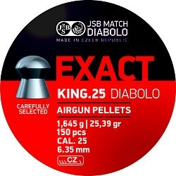 JSB Exact King cal. 6,35mm /150db/